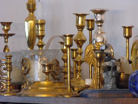 Candlestick base collection 版權商用圖片