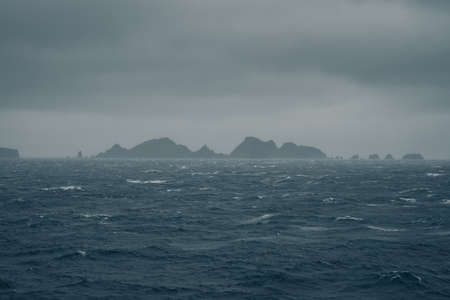 Winter 2019. Cape Horn, Drake Passage: Costa Cruise Vessel sailing through the southernmost point in Argentina / Chile. The captain and the officers from the Bridge