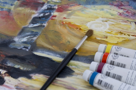 accomplishing: Painting with oil