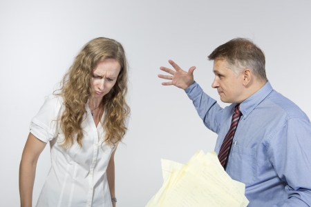 criticizes: Boss criticizes his employee