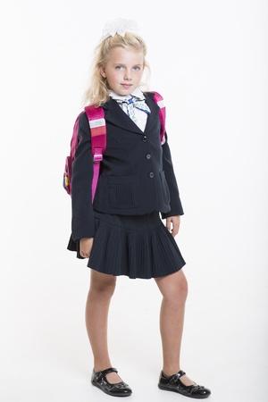 Serious school girl photo