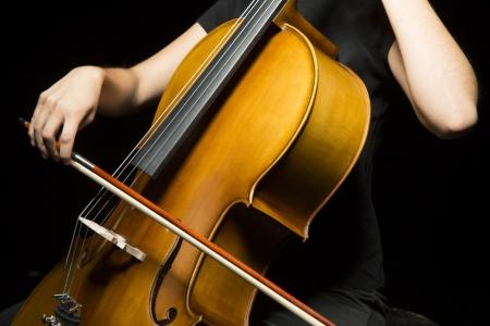 cellist: Hands of cellist