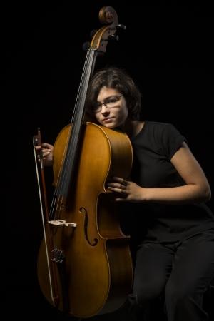 cellist: Cellist is resting