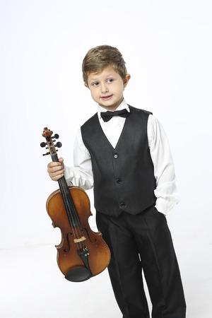 Ready to play violin Stock Photo