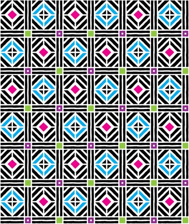 cheerful, tabby geometric pattern in juicy colors