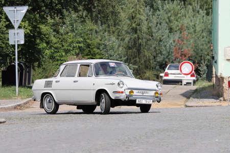 Bakov, Czech republic - Aug. 15. 2020 - Oldtimer Skoda 1000MB, MBX and MBG meeting 新聞圖片
