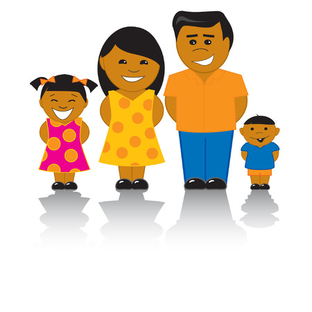 Happy Hispanic Family Standard-Bild - 4774761