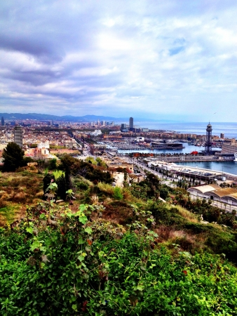 The beautiful overlook of the wonderful city of Barcelona Spain