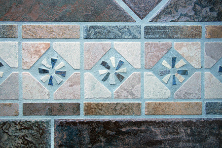 unstructured: Mosaic floor tiles Stock Photo