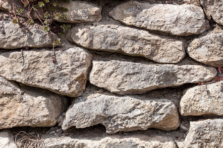 unstructured: Old ruins - Coarse sand stone wall with vines and rough joints