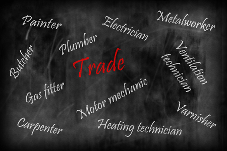 keyword: The trade - keyword collection on crafts, trade Stock Photo