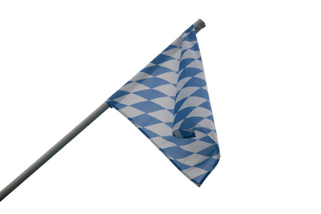 Bavarian State Flag - Unofficial State Flag of Bavaria Stock Photo