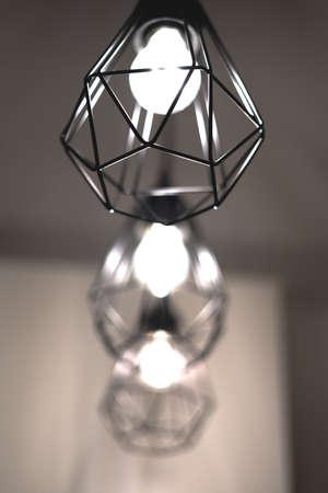Abstract lighting equipment vertical bulbes
