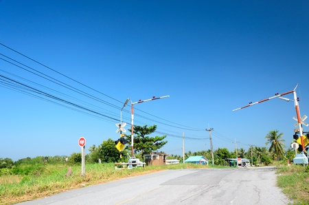 Railroad crossing in Thailand