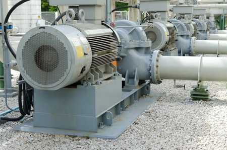 Electric motor in power plant