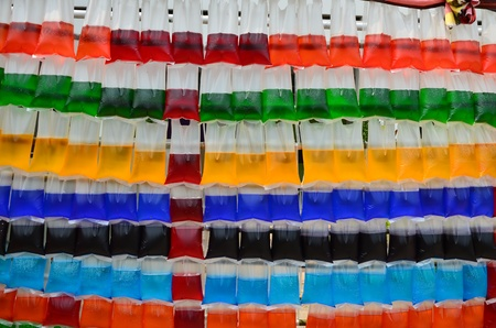 Hanging colorful water in the plastic bag Stock Photo - 13565628