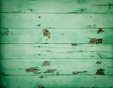 Old green wall wood background