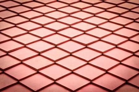Red roof texture Standard-Bild