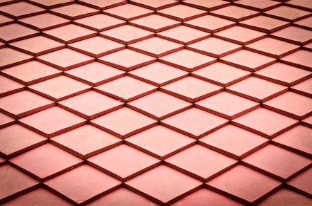 Red roof texture Stock Photo