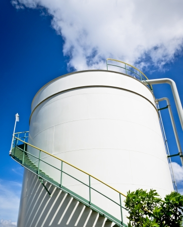 Oil storage tank in petrochemical plant