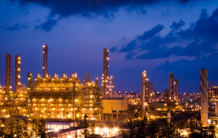 Beautiful Petrochemical plant at night