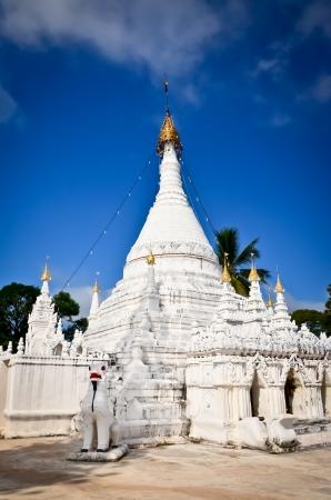 White pagoda in Maehongson, Thailand,Wat Prathad Doi Gong Moo, Stock Photo