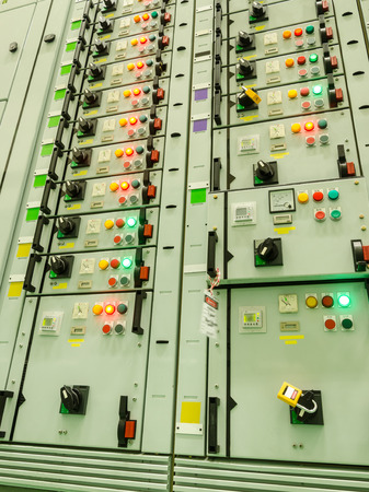electrical energy substation in a power plant. Stock Photo