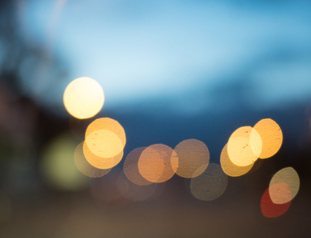 Abstract of circular light bokeh background,defocuse blur background Stock Photo