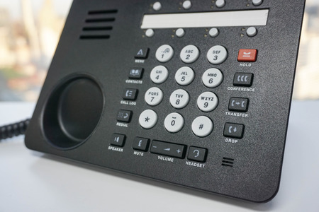 ip: Close up IP phone with numeric keypad