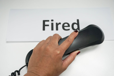 layoffs: concept of calling to fire the employee