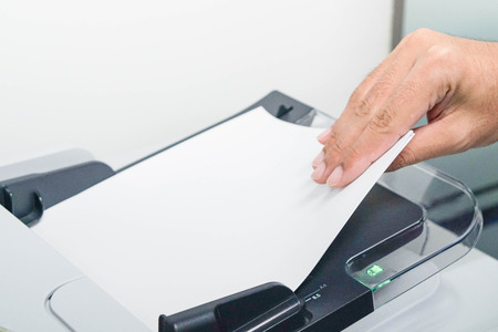 xerox: Printing, copying and scanning the documents Stock Photo