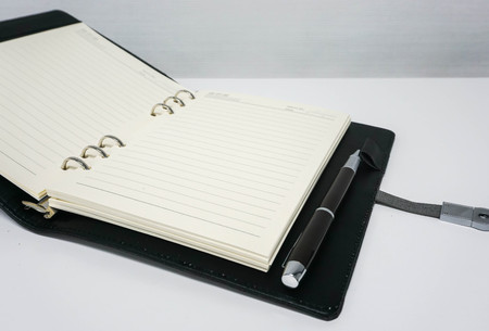 xerox: close up mock up notebook for taking minutes of meeting