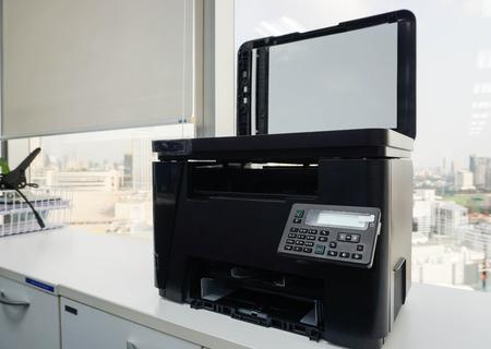 teclado numerico: close up black multifunction printer in office