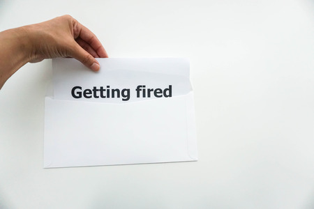 jobless: business concept of employee getting fired from the company