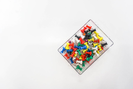isolated colorful thumbtack for business purpose