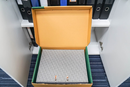 document folder in storage box for keep in office cabinet Banque d'images