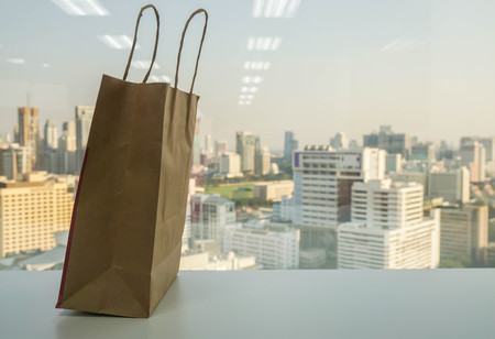 say no to plastic and use paper shopping bag to save the world and environment