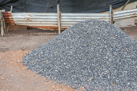 heap of pebbles at outdoor for construction