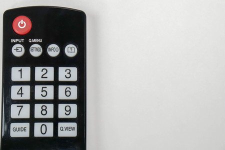 isolated close up remote control for smart TV
