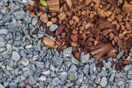 small pebbles and coconut coir for planting preparation in home garden Фото со стока