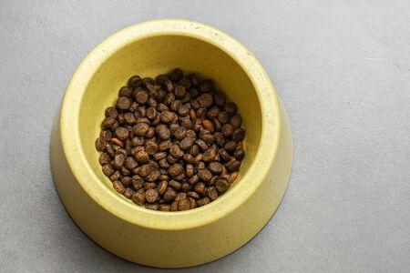 close up premium cat food in bowl Stock Photo