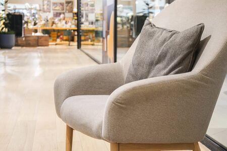 close up comfy textile sofa for rest