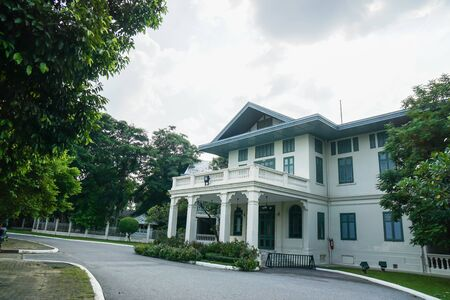 Nakhon Pathom  Thailand - August 18 2019: former royal family residence in Sanam Chandra palace for tourists visiting Editorial