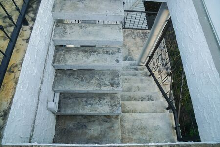 top view of outdoor loft concrete staircase