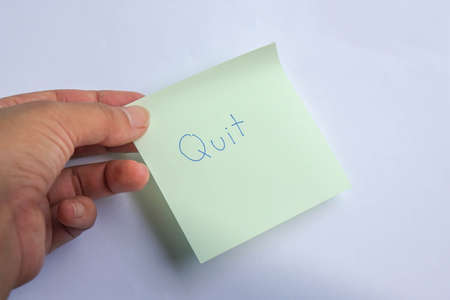business concept - people quit the job with resignation letter submission