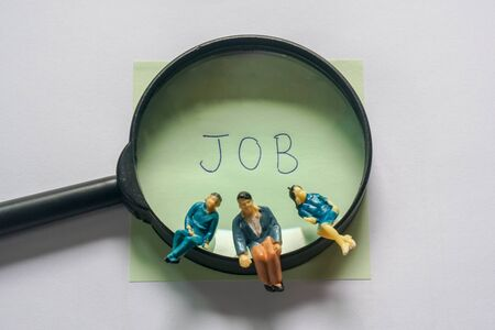 business concept for people finding the job and waiting for interviewing