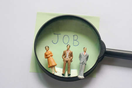 Human resources to find the right person in the right job in business industry Standard-Bild