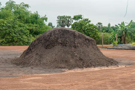 big soil pile for agriculture and construction