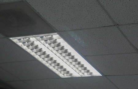 LED light on the office ceiling for lighting in working hour