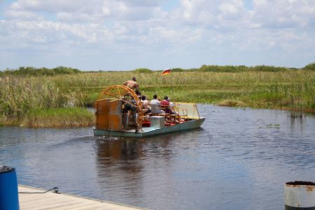 everglades: Airboat in the Everglades